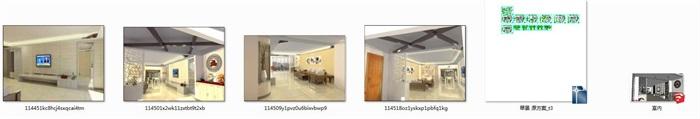中式住宅室内设计装修su模型工装施工图cad效果图(5)