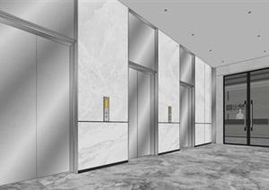 现代简约式风格开放式大型办公室商务办公内部设计