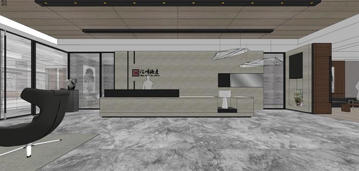 现代简约式风格开放式大型办公室商务办公内部设计(2)