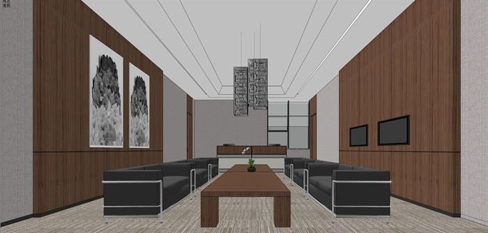 现代简约式风格开放式大型办公室商务办公内部设计(5)
