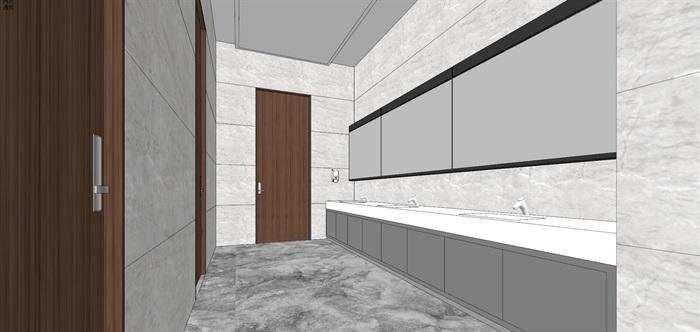 现代简约式风格开放式大型办公室商务办公内部设计(13)