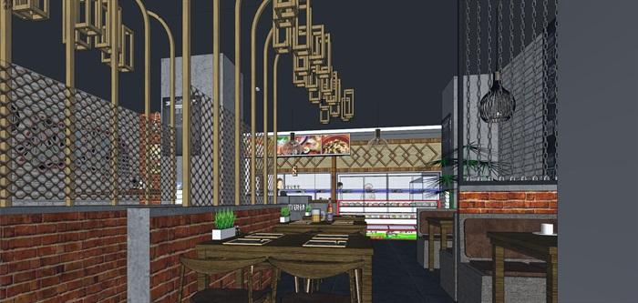 麻辣烫小吃店店铺室内设计(2)