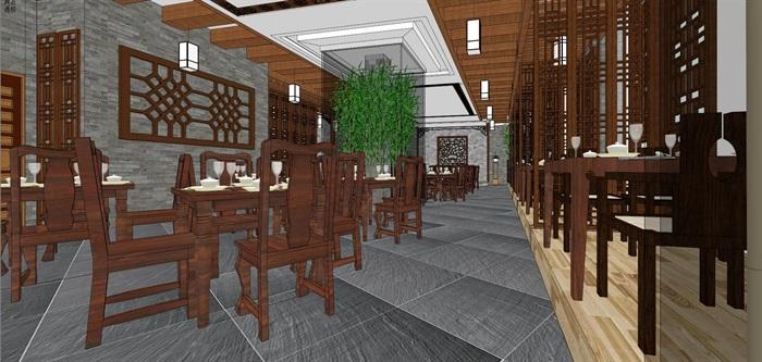 中式餐馆餐厅小吃店室内设计(3)