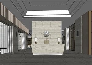 高端典雅风格售楼中心售楼处接待中心室内设计