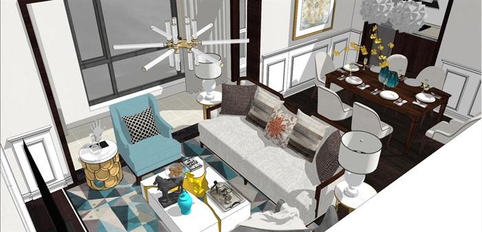 现代简约北欧风格住宅室内设计(1)