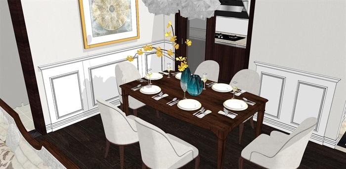 现代简约北欧风格住宅室内设计(4)
