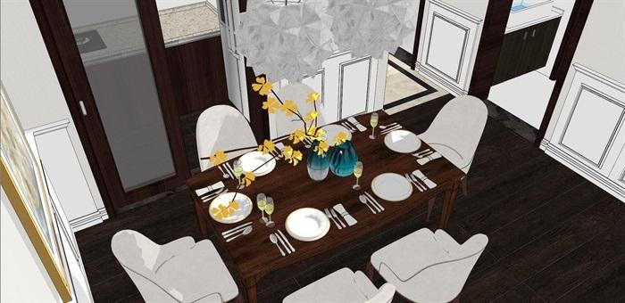 现代简约北欧风格住宅室内设计(8)