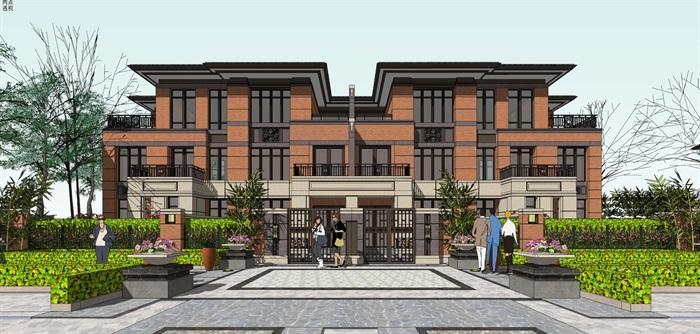 欧式新古典风格高端典雅别墅住宅(2)