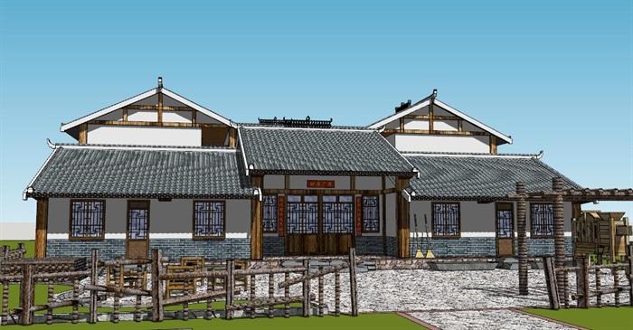 仿古中式乡村民居四合院特色民宿(3)