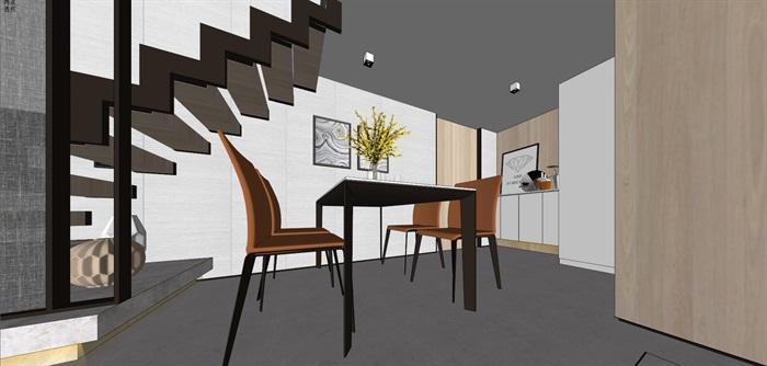 现代简约风精装LOFT住宅公寓室内设计(3)