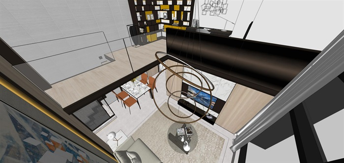 现代简约风精装LOFT住宅公寓室内设计(6)
