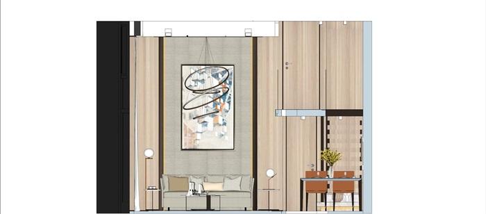 现代简约风精装LOFT住宅公寓室内设计(8)