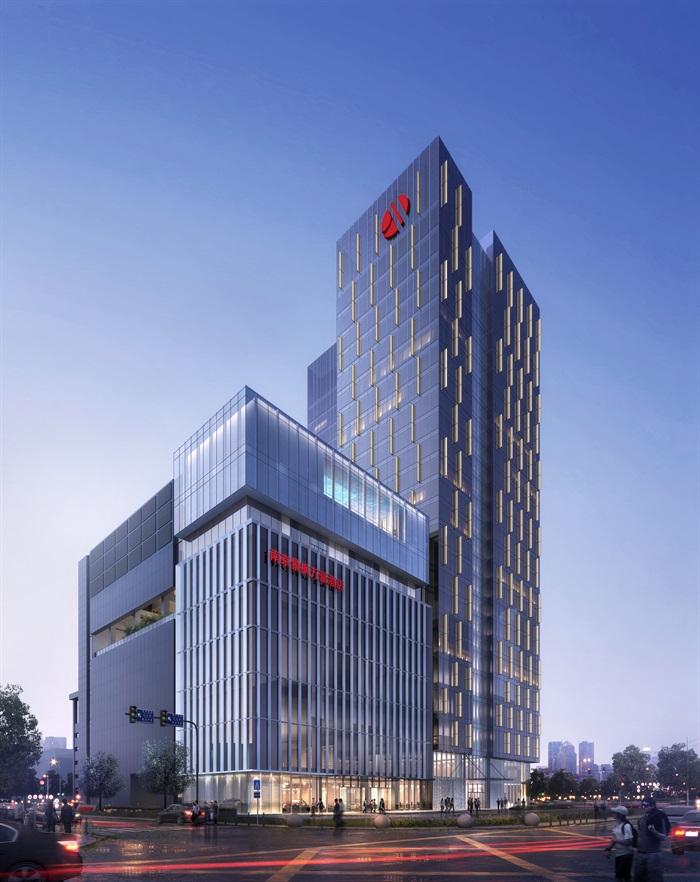 万豪现代五星级酒店旅店宾馆建筑施工图设计(3)