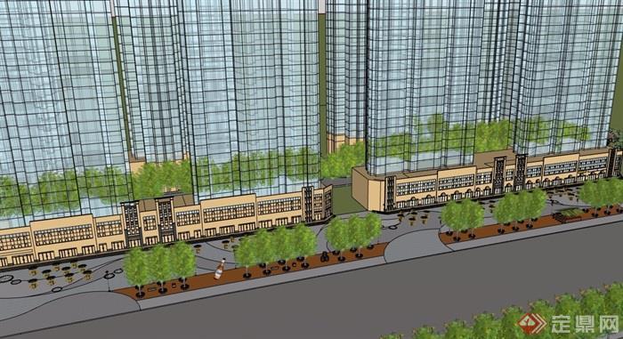某现代多层商业建筑设计su模型