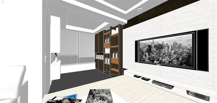 现代经典简约北欧风格住宅室内设计(2)