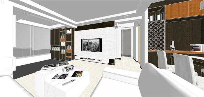 现代经典简约北欧风格住宅室内设计(4)