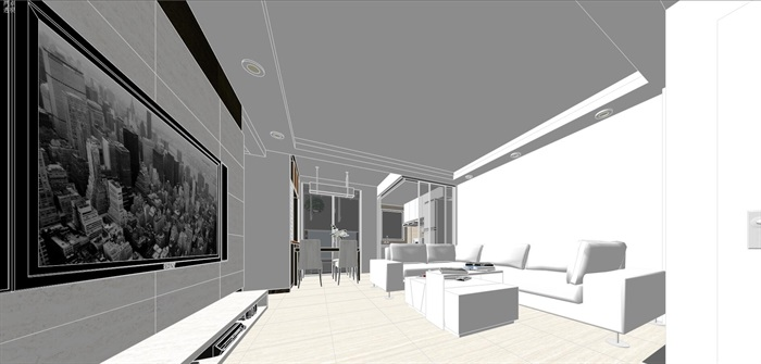 现代经典简约北欧风格住宅室内设计(5)