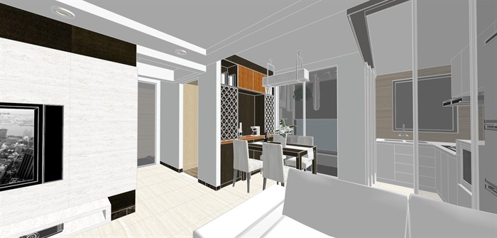 现代经典简约北欧风格住宅室内设计(6)