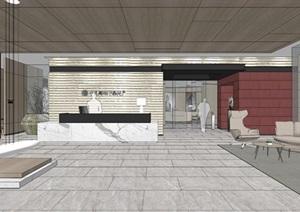 现代禅意中式办公商务空间会议室办公室室内设计