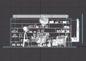 现代书房空间详细的完整设计3d模型