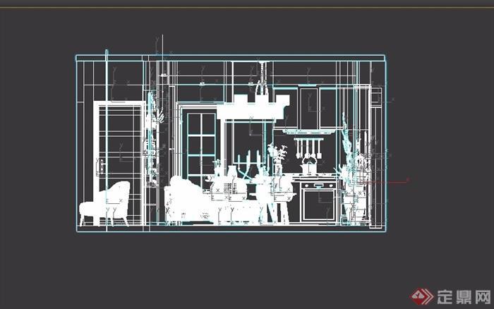 简约风格室内客厅装饰设计3d模型