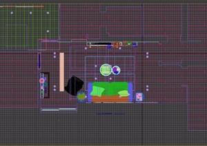 简约风格客厅室内详细装饰3d模型
