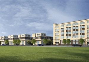 某大规模工业园总平面及建筑效果图