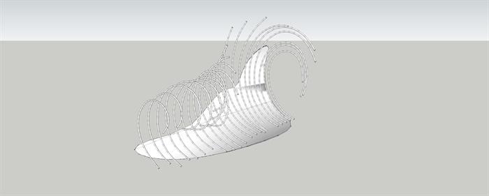 抽象景观雕塑小品SU模型(1)