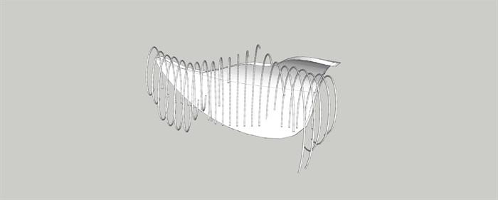 抽象景观雕塑小品SU模型(3)