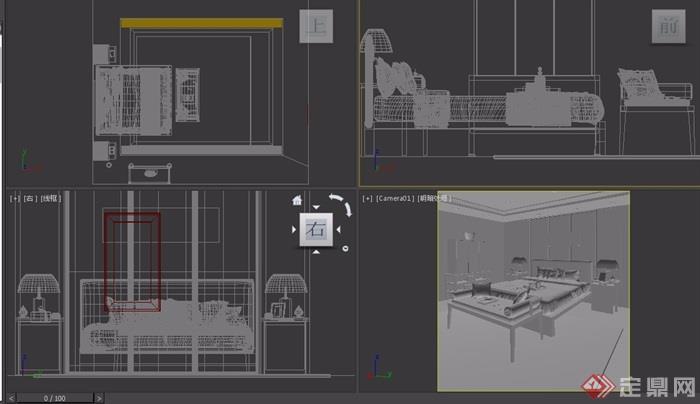 某详细的卧室空间装饰设计3d模型及效果图