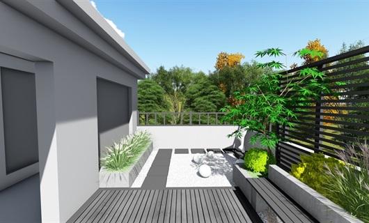 现代屋顶花园景观设计su模型