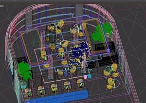 loft工业风格餐厅装饰设计3d模型