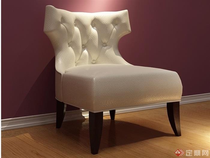 欧式沙发椅子详细素材设计3d模型及效果图