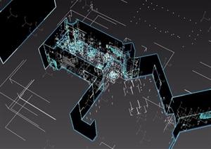 loft工业风格餐厅详细装饰设计3d模型