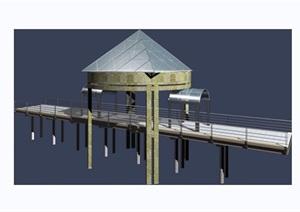 园林景观过河园桥素材设计3d模型及效果图