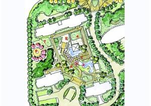 日式风格住宅小区景观jpg方案及实景图