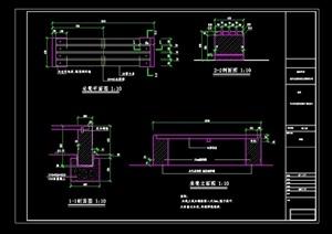 现代防腐木座凳完整设计cad施工图