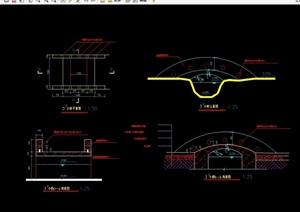 某园林景观现代景观桥设计cad施工图