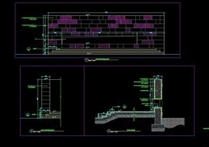 某挡墙节点素材设计cad施工详图