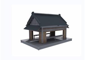 某园林景观详细的亭子设计3d模型及效果图