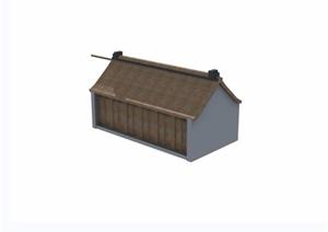 单层中式民居住宅楼设计3d模型