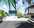 现代屋顶露台花园景观设计su模型