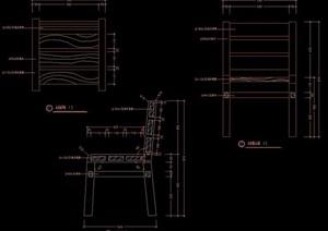 户外木制桌椅组合图纸