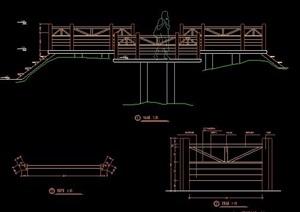 多边形拼接园桥、铺装节点图纸