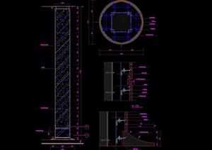 大理石包柱设计cad详图