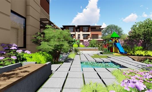 现代别墅庭院景观设计su模型
