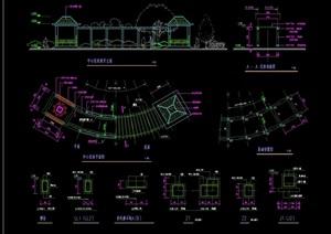 欧式风格详细的亭廊cad做法详图