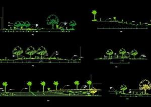 现代园林景观植物配置cad方案