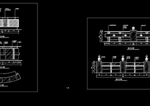 详细的服务吧台素材设计cad施工图