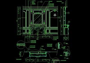 某歐式室內造型墻幕墻設計cad施工圖